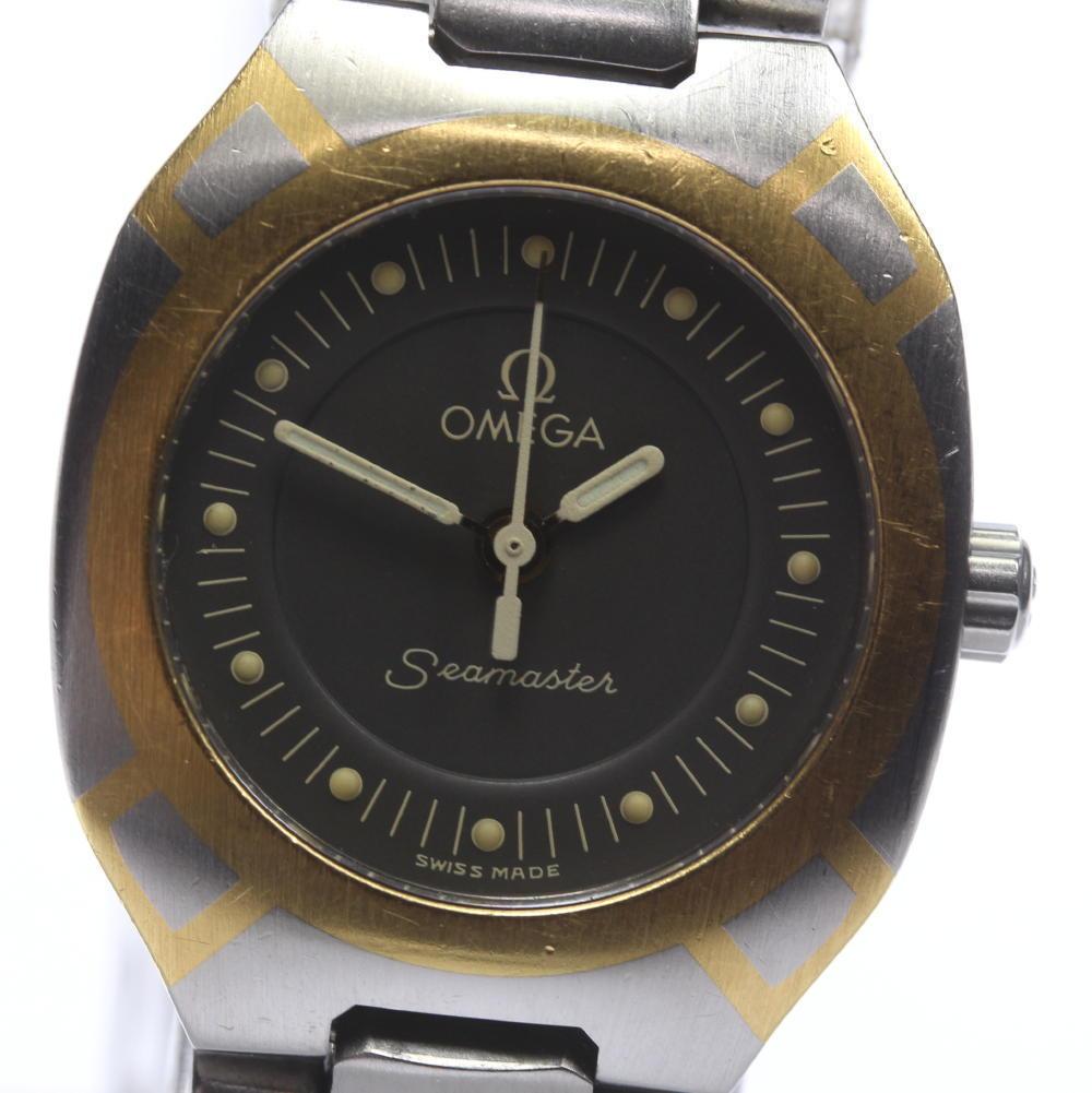 "Image of ""Omega Seamaster Polaris Stainless Steel Quartz 22mm Womens Wrist Watch"""