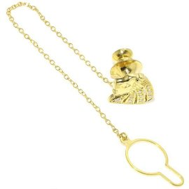 Mikimoto 18K Yellow Gold 0.06ct Diamond Tie Tack Brooch