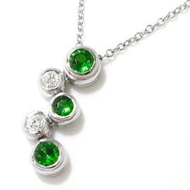 Tiffany & Co. Platinum Garnet & Diamond Bubble Necklace