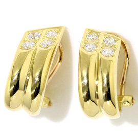 Christian Dior 18K Yellow Gold Diamond Earrings