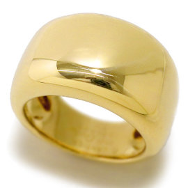 Cartier Nouvelle Vague 18K Yellow Gold Ring Size 6.25