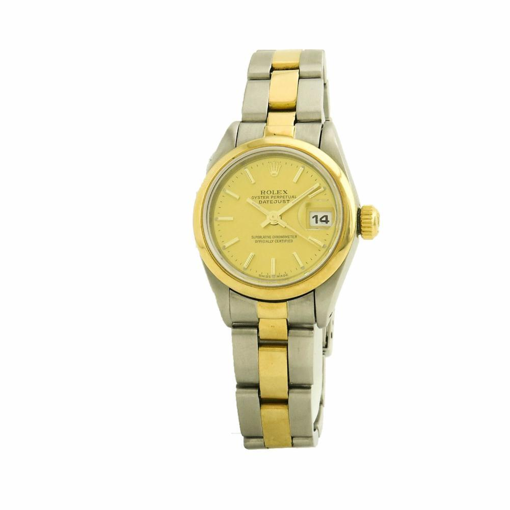 """Image of """"Rolex DateJust 69163 Stainless Steel & Yellow Gold 26mm Women's Watch"""""""