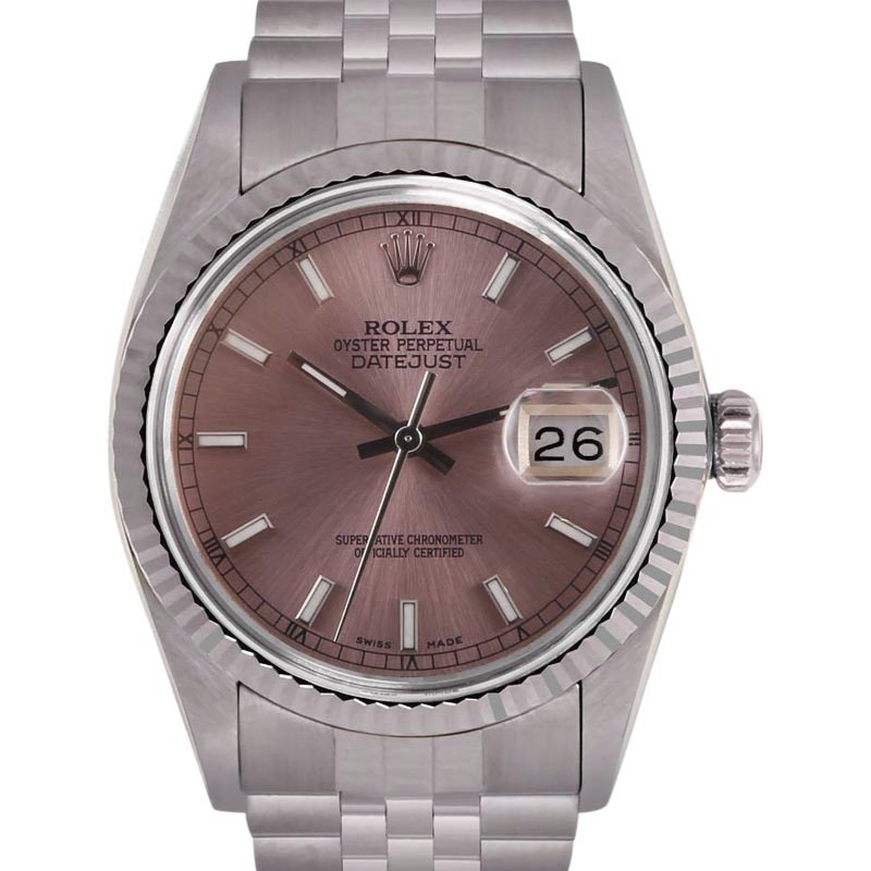 """Image of """"Rolex Datejust Stainless Steel / 18K White Gold 36mm Unisex Watch"""""""
