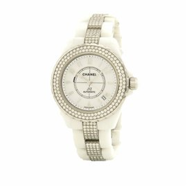 Chanel J12 H1422 Ceramic Diamond Automatic 38mm Unisex Watch