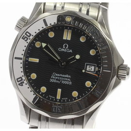 Omega Seamaster Professional 2562.80 Date Navy Dial Stainless Steel Quartz 36mm Mens Watch