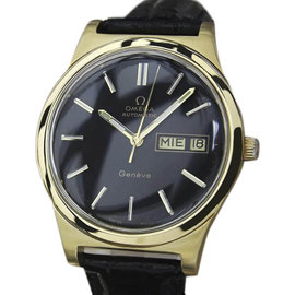 Omega Geneve Stainless Steel & Gold Plated Automatic 36mm Mens Watch 1970