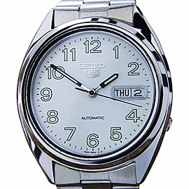 Seiko 5 Stainless Steel Automatic 37mm Mens Watch 1980s