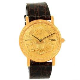 Corum 20 Dollars Yellow Gold Coin 36mm Mens Watch