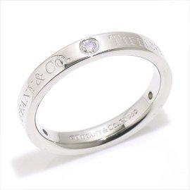 Tiffany & Co. Platinum PT950 0.07ct. Diamond Flat Band Ring Size 4.5