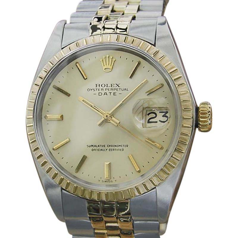 """Image of """"Rolex 1503 14K Yellow Gold and Stainless Steel Mens 35mm Watch 1969"""""""