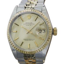 Rolex 1503 14K Yellow Gold and Stainless Steel Mens 35mm Watch 1969
