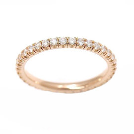 Cartier 18K Rose Gold Diamond Ring Size 4