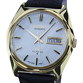 Seiko Lord Matic 5606 7000 Stainless Steel Gold Plated Automatic 36mm Mens Watch