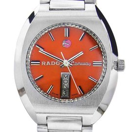 Rado Conway Stainless Steel Automatic Vintage 35mm Unisex Watch 1970s
