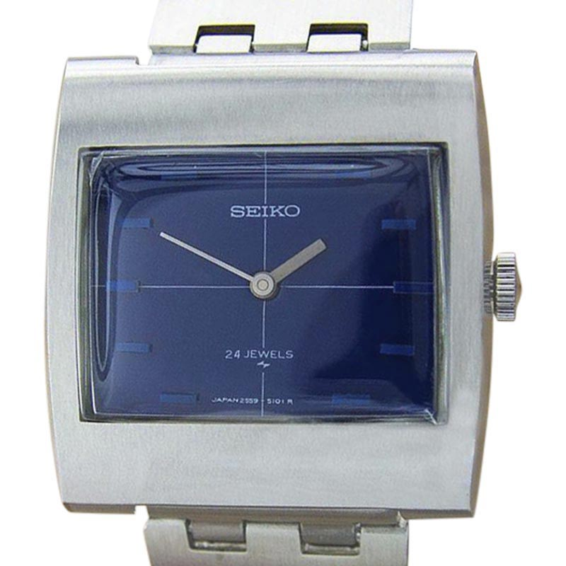"Image of ""Seiko 2559-3010 Stainless Steel Blue Dial Manual Vintage 31mm Mens"""
