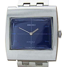 Seiko 2559-3010 Stainless Steel Blue Dial Manual Vintage 31mm Mens Watch 1970s