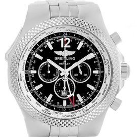 Breitling Bentley GMT A47362 Stainless Steel Black Dial 49mm Mens Watch