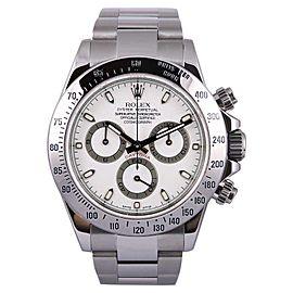Rolex Daytona 116520 Stainless Steel/18K White Gold White Dial 40mm Mens Watch