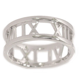 Tiffany & Co. 18K White Gold Atlas Open Ring Size 5.75
