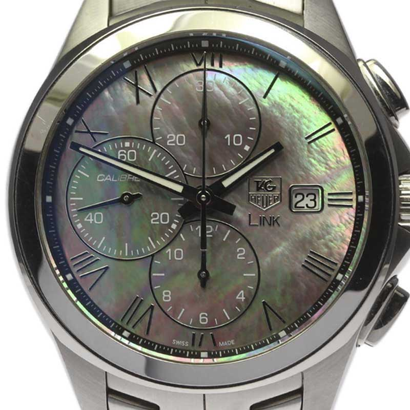 "Image of ""Tag Heuer Link Cat2014 Stainless Steel Automatic 44mm Mens Watch"""
