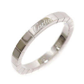 Cartier Lanieres 18K White Gold Ring Size 10