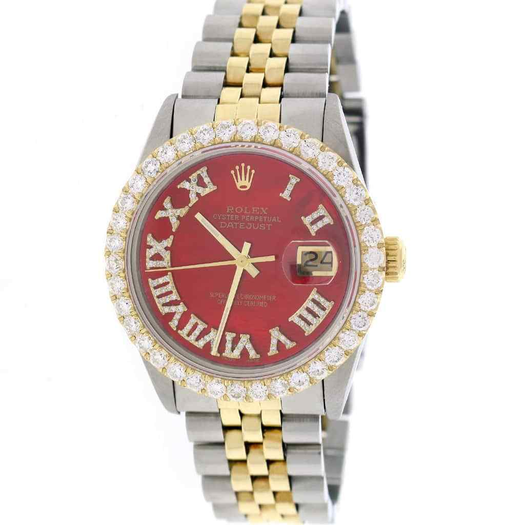 """Image of """"Rolex Datejust 16013 18K Yellow Gold & Stainless Steel Mother of Pearl"""""""