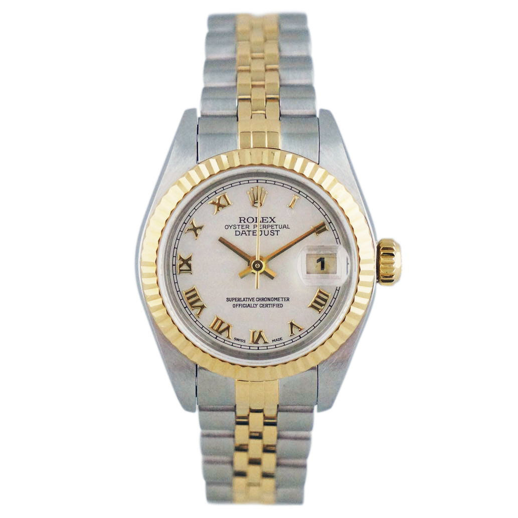 """Image of """"Rolex Datejust 79173 Stainless Steel Yellow Gold 25mm Womens Watch"""""""