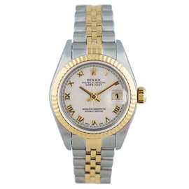 Rolex Datejust 79173 Stainless Steel Yellow Gold 25mm Womens Watch