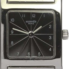 Hermes H Watch HH1.210 Stainless Steel Quartz Black Dial 21.5mm Womens Watch