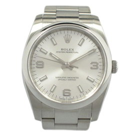 Rolex Oyster Perpetual Air King 114200 Stainless Steel Automatic Silver 34mm Mens Watch