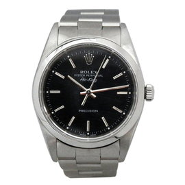 Rolex Airking 14000 Stainless Steel Automatic Black Dial 33mm Mens Watch