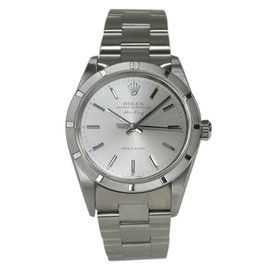 Rolex Air King 14010M Stainless Steel Automatic Silver 35mm Mens Watch