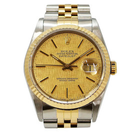 Rolex Oyster Perpetual Datejust 16233 Stainless Steel / Yellow Gold Automatic 36mm Mens Watch