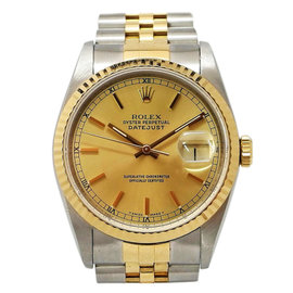 Rolex Oyster Perpetual DateJust 16233 Stainless Steel/Yellow Gold Automatic 36mm Mens Watch