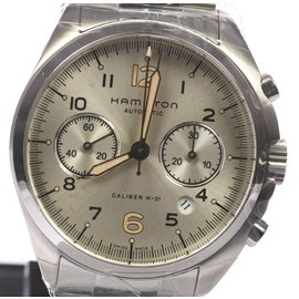 Hamilton Khaki Pilot Pioneer H76416155 Stainless Steel 41mm Mens Watch