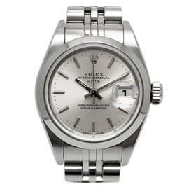 Rolex Oyster Perpetual Date 79160 Stainless Steel Automatic Silver 26mm Womens Watch