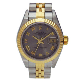 Rolex Datejust 79173 Roman Dial Stainless Steel Yellow Gold Automatic 24mm Womens Watch