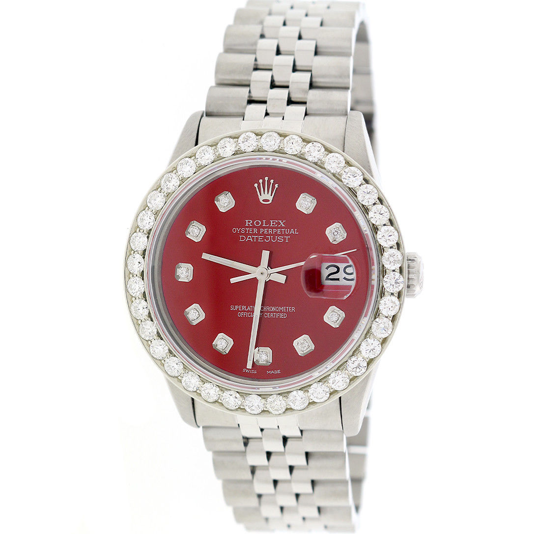 """Image of """"Rolex Datejust 16233 Stainless Steel Automatic 36mm Mens Watch"""""""
