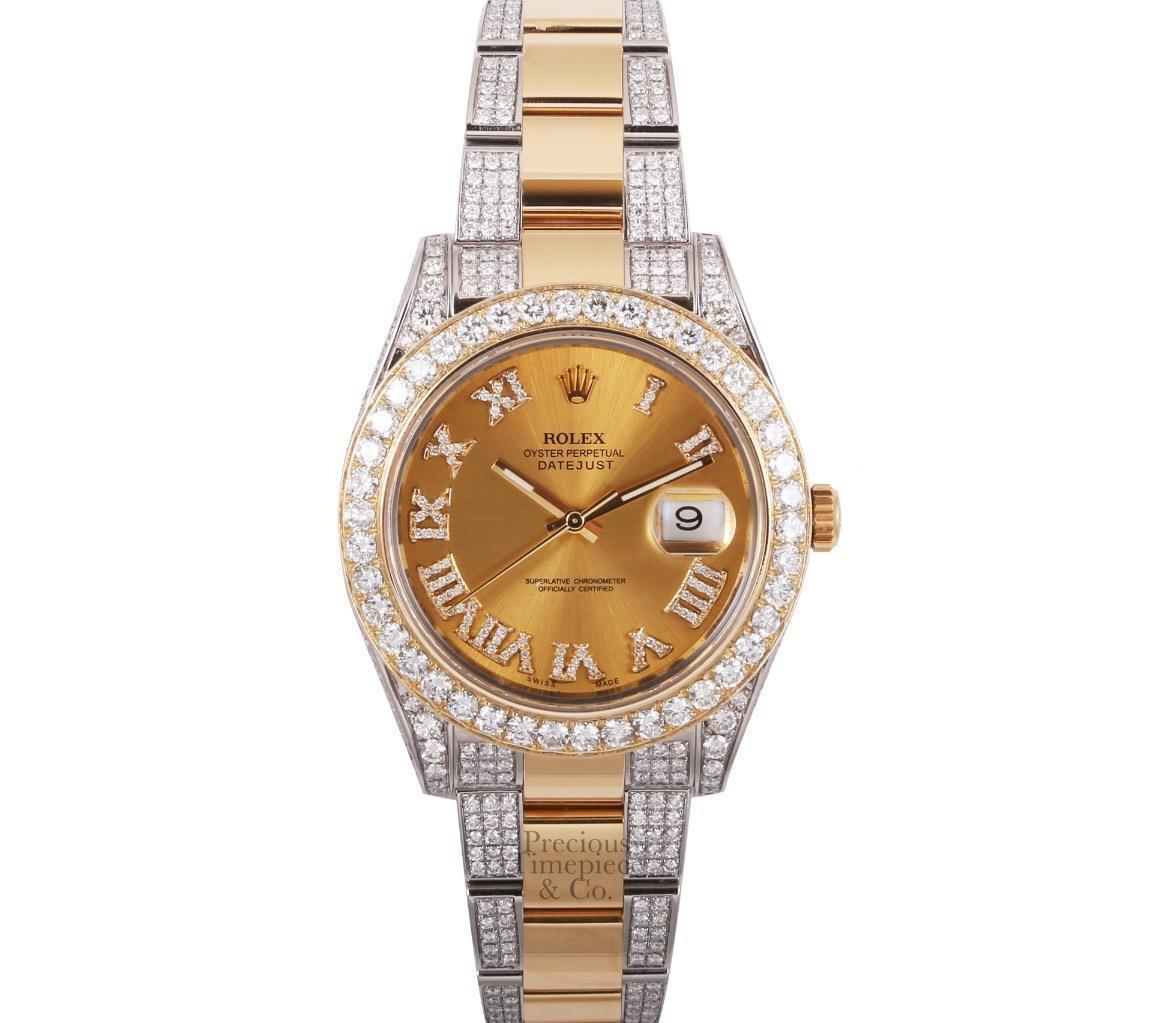 "Image of ""Rolex Datejust II 18K Yellow Gold/Stainless Steel wDiamonds Automatic"""