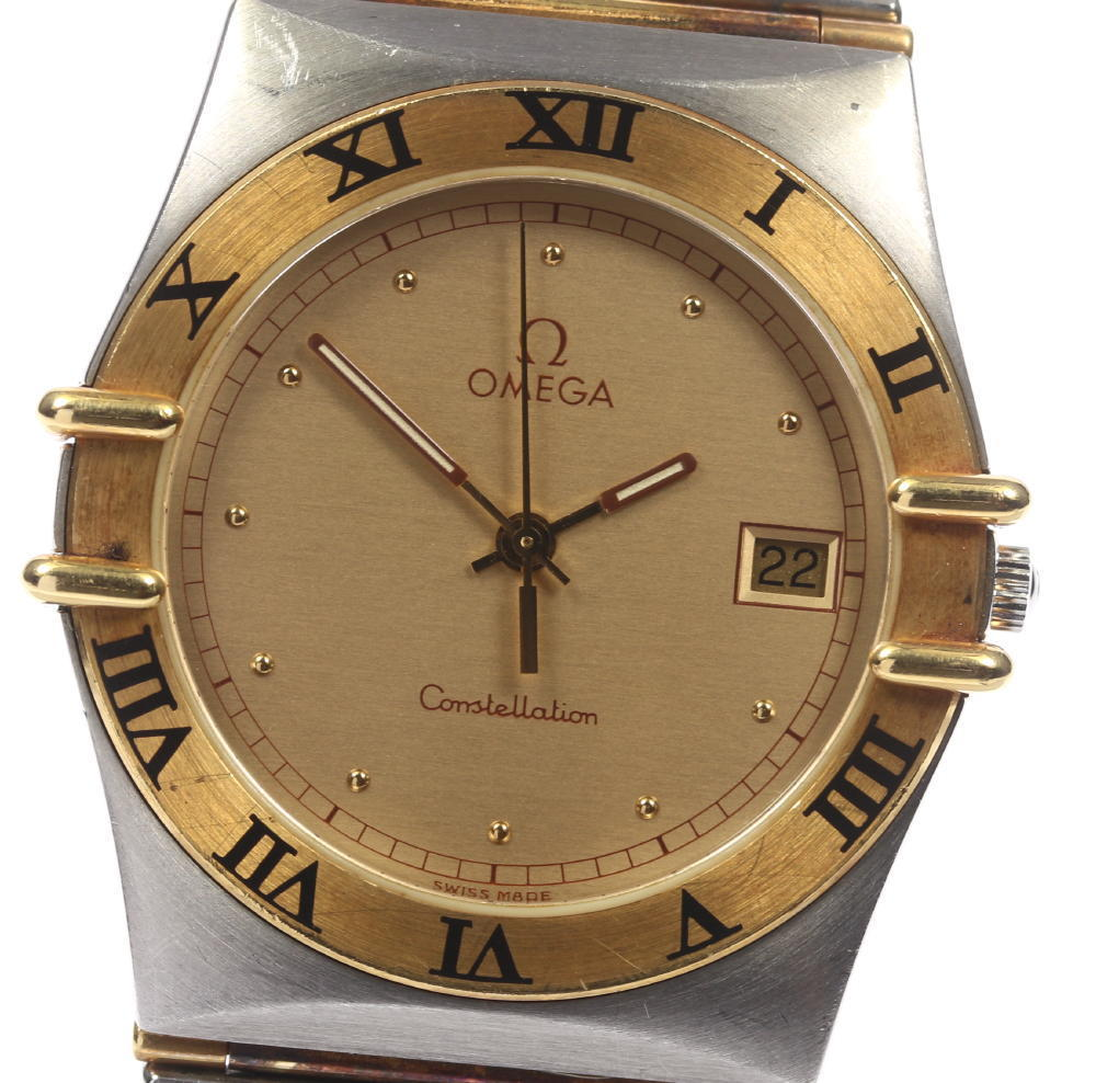 """Image of """"Omega Constellation Yellow Gold Tone / Stainless Steel Quartz 32.5mm"""""""