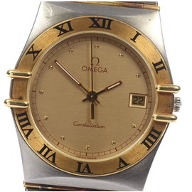 Omega Constellation Yellow Gold Tone / Stainless Steel Quartz 32.5mm Mens Vintage Watch