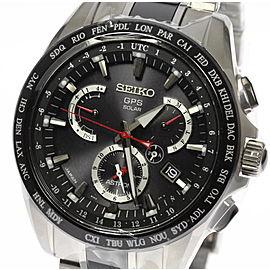 Seiko Astorn SBXB041/8X53-0AB0 Titanium Ceramic Black Dial 45mm Mens Watch
