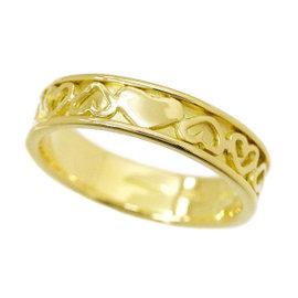 Tiffany & Co. 18K Yellow Gold Heart Ring Size 5.5
