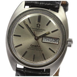 Omega Constellation Stainless Steel / White Gold Automatic 35mm Mens Vintage Watch