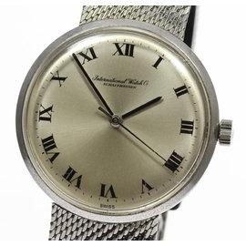 IWC Schaffhausen Stainless Steel Silver Dial 34mm Vintage Mens Watch