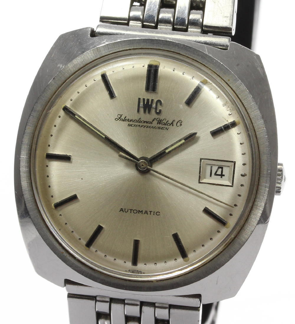 "Image of ""IWC Schaffhausen Stainless Steel Automatic 36mm Mens Vintage Watch"""