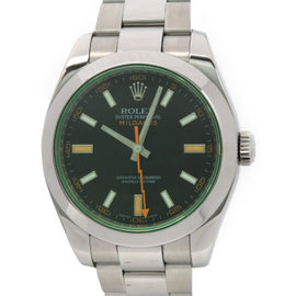 Rolex Milgauss 116400GV Stainless Steel Automatic Black Dial 40mm Mens Watch