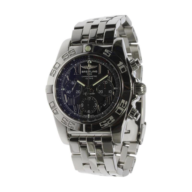 "Image of ""Breitling Chronomat 44 Ab0110 Stainless Steel Automatic 44mm Mens"""
