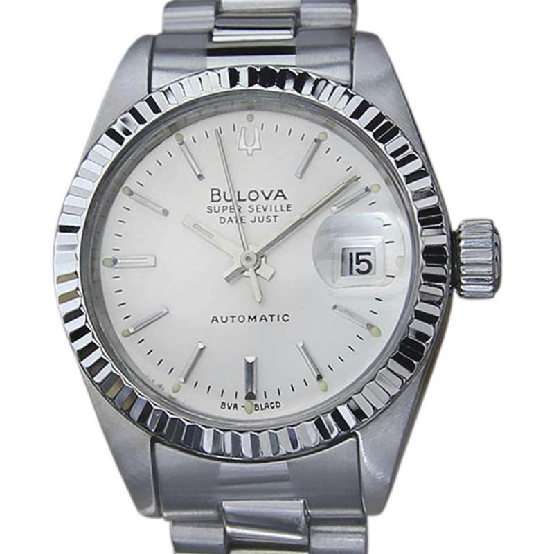 "Image of ""Bulova Super Seville Stainless Steel Automatic 26mm Womens Vintage"""