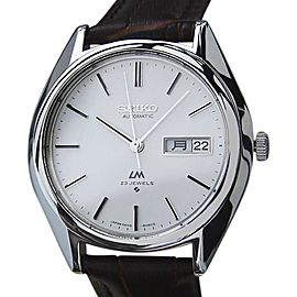 Seiko Lord Matic Stainless Steel Automatic 37mm Mens Watch 1970s